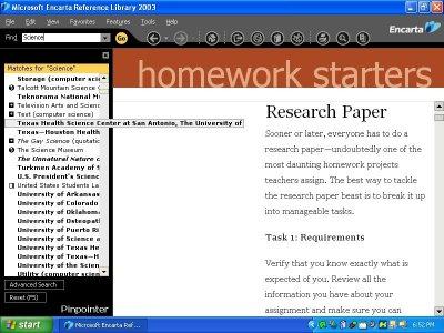 Msn encarta language homework help