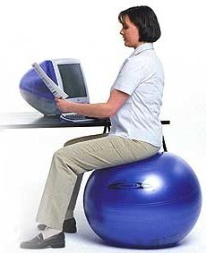 exercise ball image - Gaiam Ball Chair